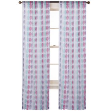 jcpenney.com | Cleo Rod-Pocket Embroidered Sheer Curtain Panel