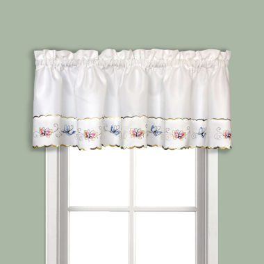 jcpenney.com | United Curtain Co. Butterfly Rod-Pocket Embroidered Valance