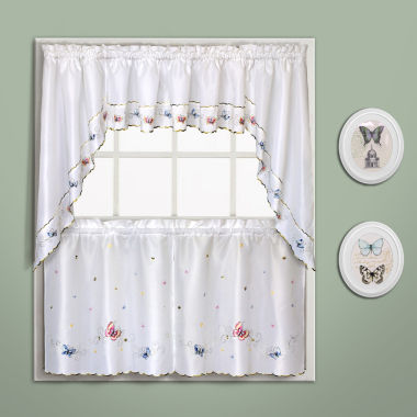 jcpenney.com | United Curtain Co. Butterfly Rod-Pocket Kitchen Curtains