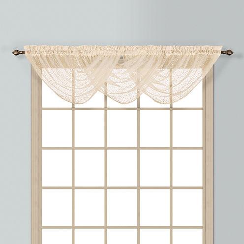 United Curtain Co. Charlotte Rod-Pocket Waterfall Valance