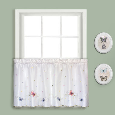 jcpenney.com | United Curtain Co. Butterfly Rod-Pocket Window Tiers