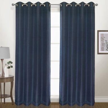 jcpenney.com | United Curtain Co. Herringbone Grommet-Top Curtain Panel