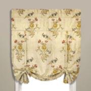Jewel Rod-Pocket Tie-Up Lined Curtain Panel