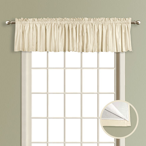 United Curtain Co. Lincoln Rod-Pocket Straight Lined Valance