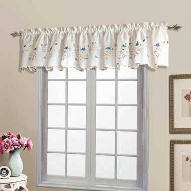 jcpenney.com | United Curtain Co. Lorretta Rod-Pocket Valance