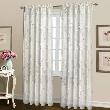 jcpenney.com | United Curtain Co. Lorretta Rod-Pocket Curtain Panel
