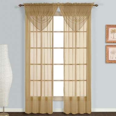 "jcpenney.com | United Curtain Montecarlo 60""X34"" Rod-Pocket Valance"
