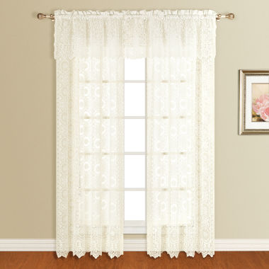 "jcpenney.com | United Curtain Montecarlo 56""X16"" Rod-Pocket Valance"