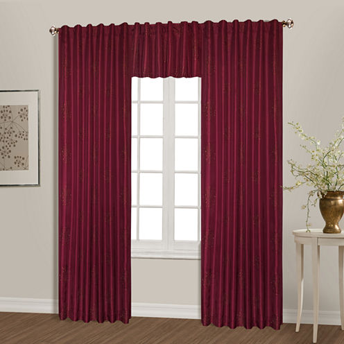 United Curtain Co. Starburst Back-Tab Curtain Panel
