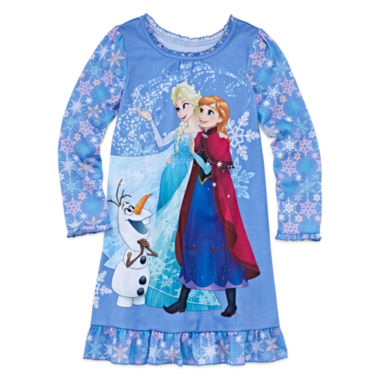 jcpenney.com | Disney Frozen Long-Sleeve Nightshirt - Girls 7-16