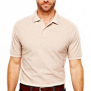 St. John's Bay® Short-Sleeve Slim-Fit Solid Pique Polo