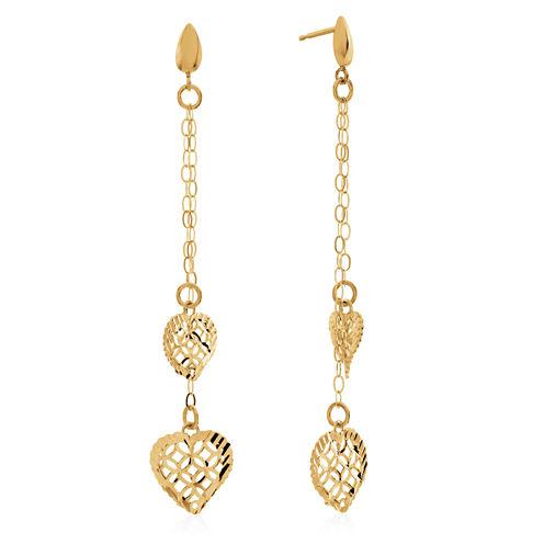 10K Gold Drop Earrings