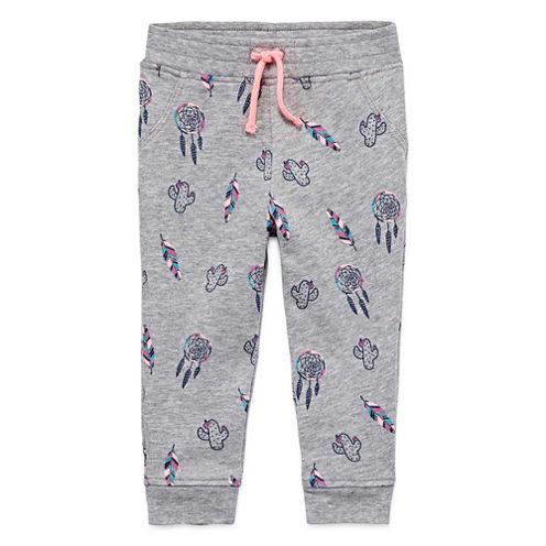 Arizona Azg Print Jogger Pull-On Pants Girls