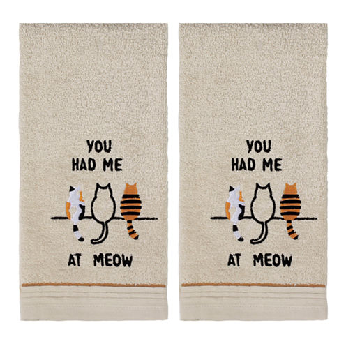Saturday Knight 2-Pack Had Me At Meow Hand Towel Set