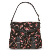 Olsenboye® Paisley Floral Corduroy Messenger Bag