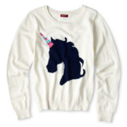 Arizona Critter Sequin Sweater - Girls 6-16 and Plus