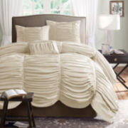 Madison Park Newport 4-pc. Ruched Comforter Set