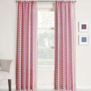 Silas Striped Ikat Rod-Pocket Curtain Panel