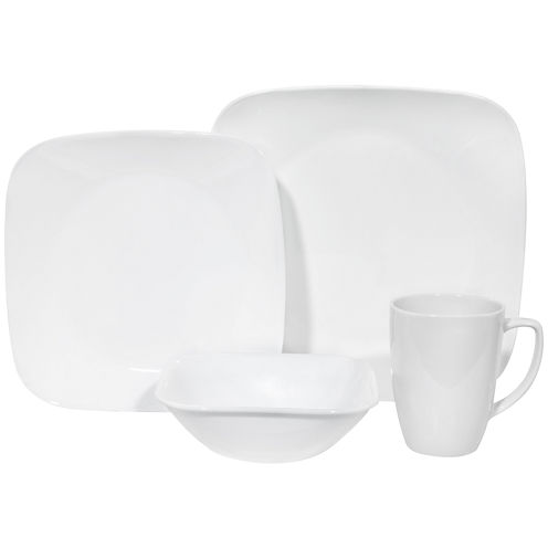 Corelle® Square™ Pure White 16-pc. Dinnerware Set