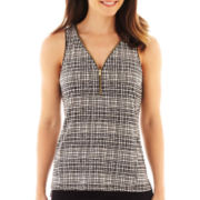 Worthington® Sleeveless Zipper-Trim Top