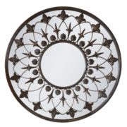 Regal Scroll Round Wall Mirror