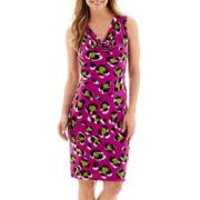 Worthington® Sleeveless Cowlneck Sheath Dress