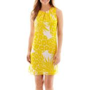 Worthington® Sleeveless Pleated Shift Dress
