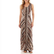a.n.a® Sleeveless Striped Tank Maxi Dress