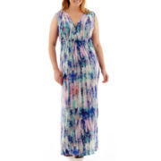 a.n.a® Sleeveless V-Neck Empire-Waist Maxi Dress - Plus