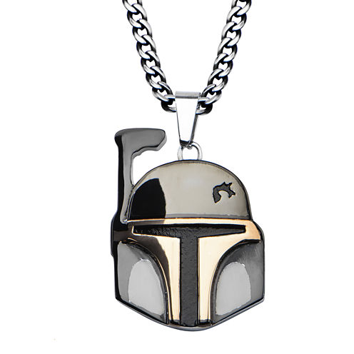 Star Wars® Boba Fett Mens Two-Tone Stainless Steel Pendant Necklace