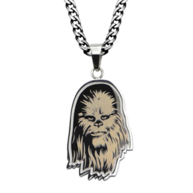 jcpenney.com | Star Wars® Chewbacca Mens Etched Stainless Steel Pendant Necklace