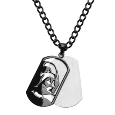 jcpenney.com | Star Wars® Darth Vader Mens Stainless Steel & Black IP Layered Dog Tag Pendant