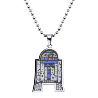 jcpenney.com | Star Wars® R2-D2 Mens Stainless Steel Pendant Necklace