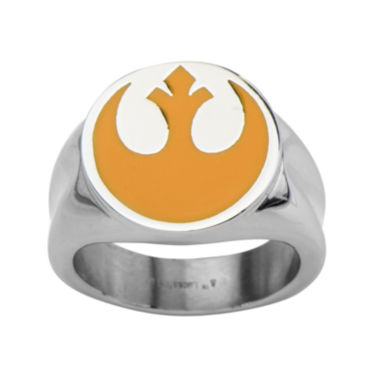 jcpenney.com | Star Wars® Rebel Symbol Mens Stainless Steel Ring