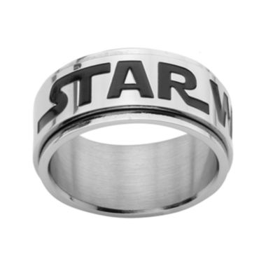 jcpenney.com | Star Wars® Logo Mens Stainless Steel Spinner Ring