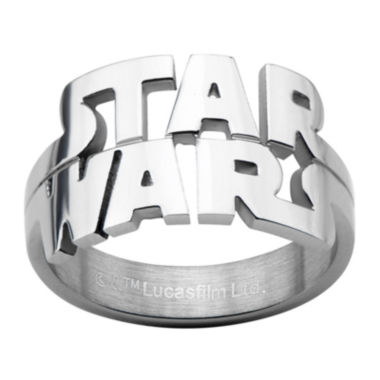 jcpenney.com | Star Wars® Logo Cutout Mens Stainless Steel Ring