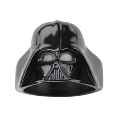 jcpenney.com | Star Wars® Darth Vader Mens Stainless Steel and Black IP 3D Ring