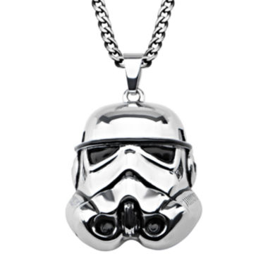 jcpenney.com | Star Wars® Stormtrooper Mens 3D Stainless Steel Pendant Necklace