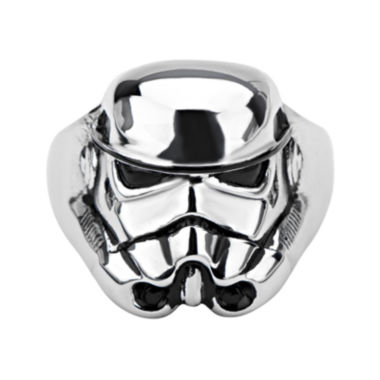 jcpenney.com | Star Wars® Stormtrooper Mens Stainless Steel Ring