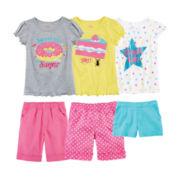 Okie Dokie® Tees or Shorts – Preschool Girls 4-6x