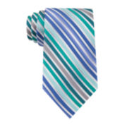 Van Heusen® Shaded Stripe Silk Tie - Extra Long
