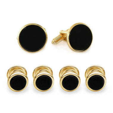 jcpenney.com | Formal Onyx Set of 4 Shirt Studs and Cuff Links