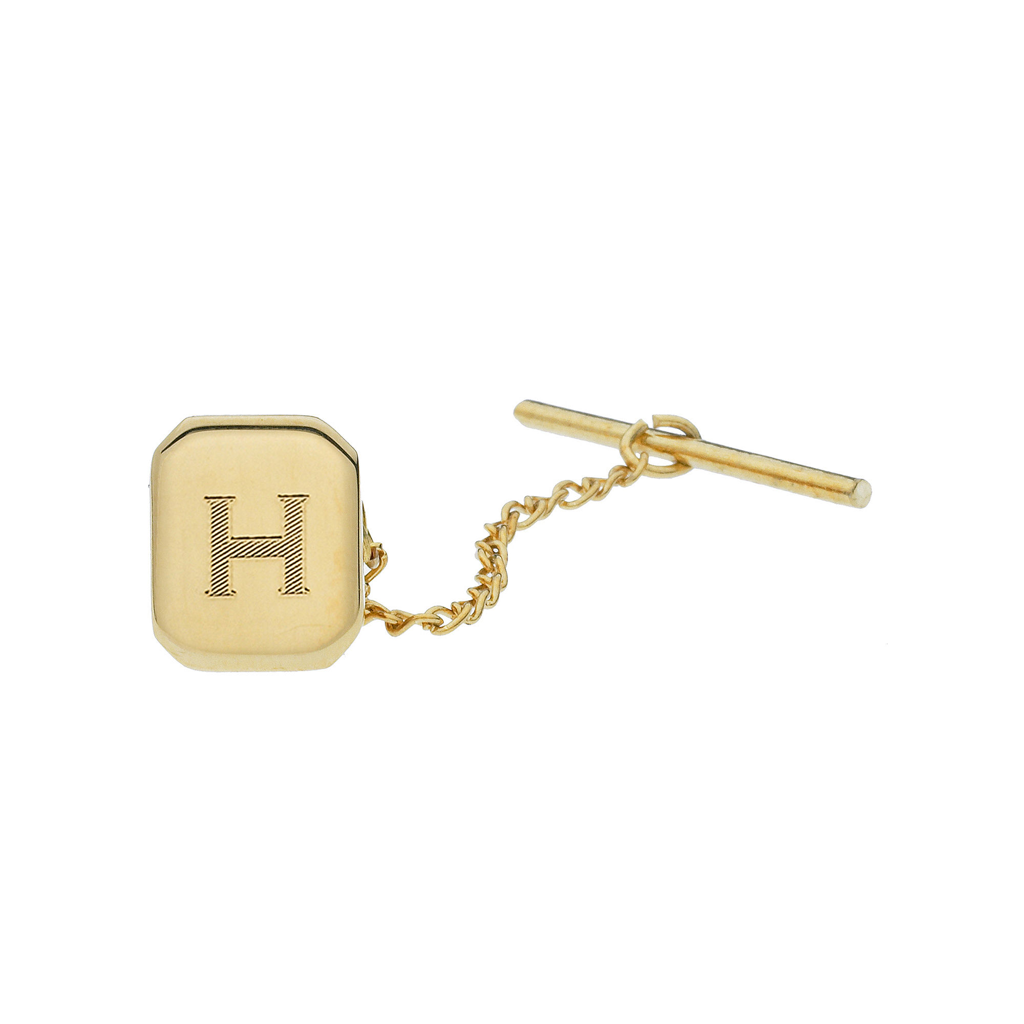 Personalized Gold-Toned Tie Tack