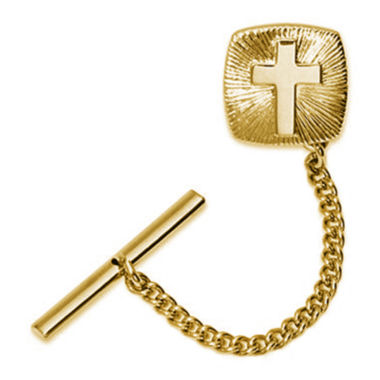 jcpenney.com | Gold-Plated Cross Starburst Tie Tack