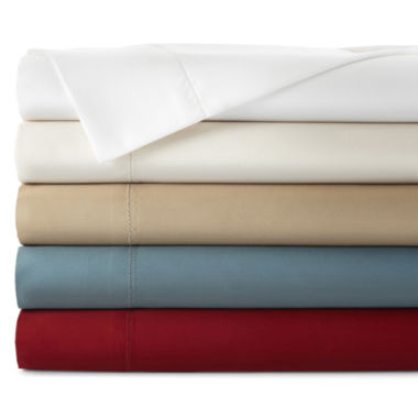 jcpenney.com | Royal Velvet® 500tc Wrinkle-Free Damask Solid Sheet Set