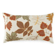 JCPenney Home™ Leaves Emboridery Decorative Pillow