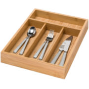 Honey-Can-Do® Bamboo 4-Compartment Cutlery Tray