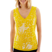 Worthington® Sleeveless Double-Layer Top