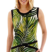 Worthington® Sleeveless Leaf Print Top