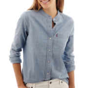 Levi's® Long-Sleeve Chambray High-Low Shirt